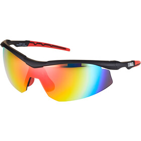 Bliz Prime M9 Brille, shiny black/smoke with red multi
